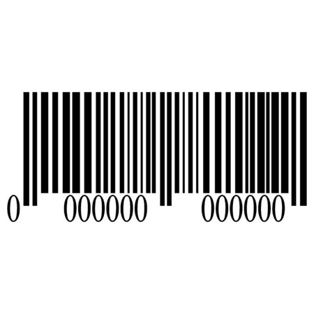 Barcode isolated on white background, vector illustration Ilustrace