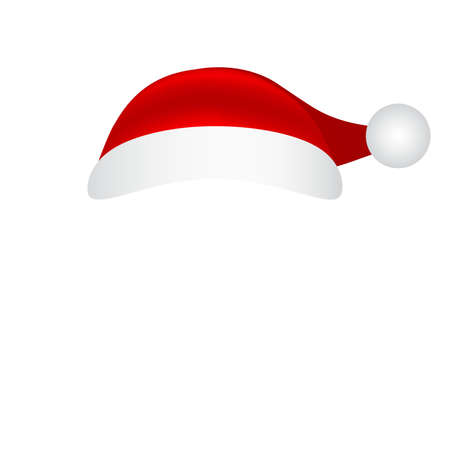 Hat cap santa claus on a white background. Mockup templates for christmas holiday design