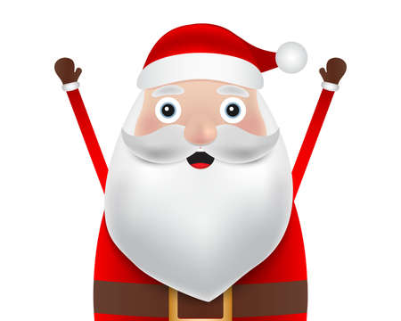 Christmas Santa claus close up on a white background. Vector illustration for a festive design