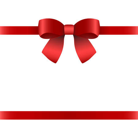 Red gift bow for the holiday.
