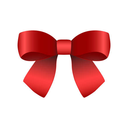 Red gift bow for the holiday. Vektorgrafik