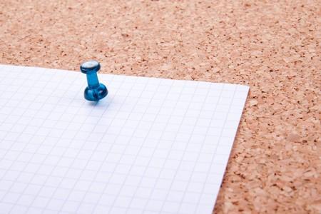 noteboard: Blank note on cork board Stock Photo