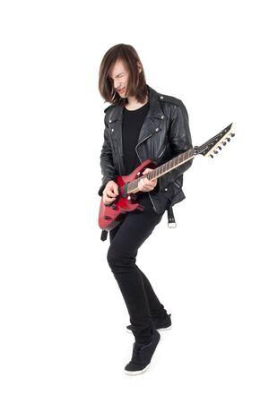 Punk playing guitar Stock Photo - 17253083
