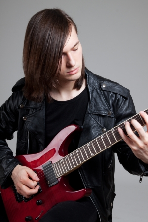 Young guitarist Banque d'images