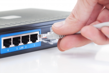 Connecting network plug