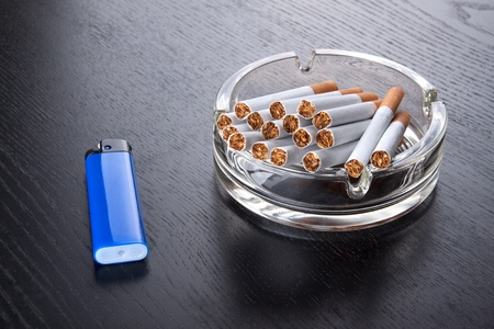ashtray and lighter Stock Photo - 17226046