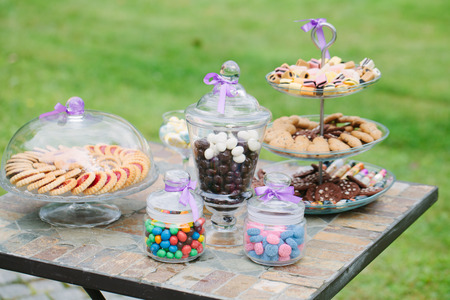wedding table with candies photo