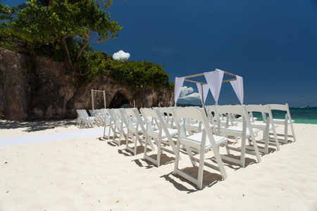 wedding ceremony on the beach Banque d'images