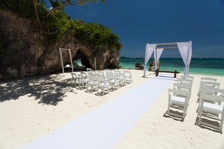 wedding ceremony on the beach Banco de Imagens