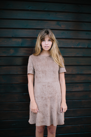 beautiful girl posing in the park