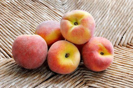Fresh peaches on natural background Reklamní fotografie