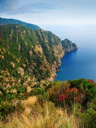 margherita: Landscape view Portofino Regional Nature Park in Italy