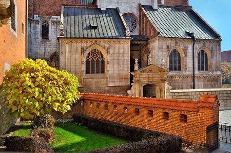 courtyard: autumn old courtyard