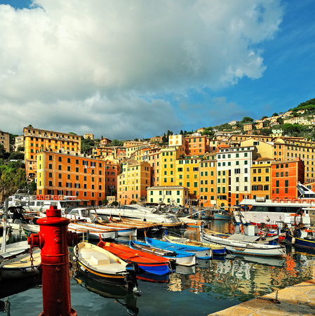 port: sea port in Camogli with blue sky