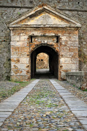entrance gate: entrance gate to the castle in Savona