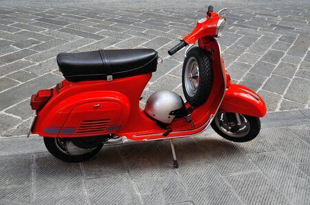 primavera: Genova, Italy - August 17, 2015: vespa primavera 125 et3 iconic Italian scooter. Editorial