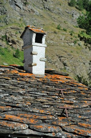 coatings: Alpine chimney and roof coatings stone in Rhemes Notre Dame
