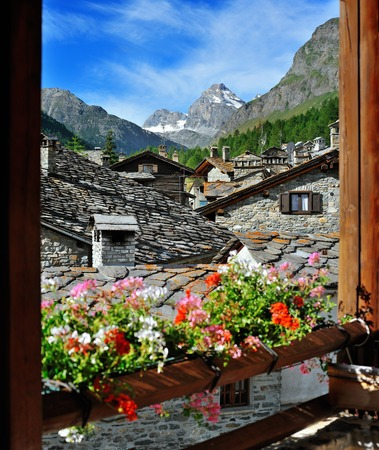 Rhemes Notre Dame,typical alps town in Valle d'Aosta, Italy