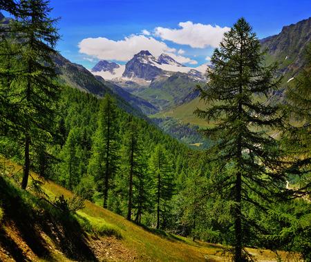 Alpien mountain view on Granta Parey in Val di Rhemes