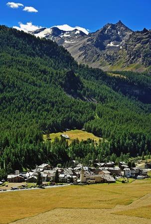 aosta: Old village Rhemes Notre Dame in Aosta valley Stock Photo
