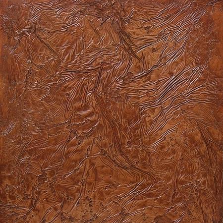 shrunken: shrunken, grungy plastered deep brown wall texture Stock Photo