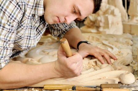 sanding block: Carpenter planing board in the art workshop