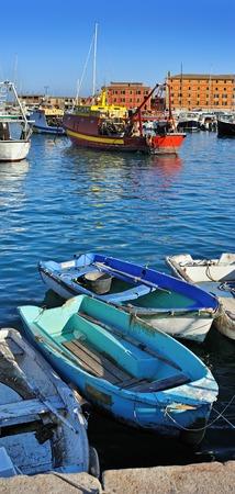 margherita: Fishing boats in Santa Margherita quay port, Liguria