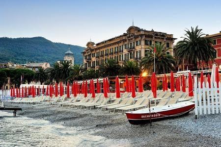 margherita: Photo of Santa Margherita beach, province of Genoa, Italy