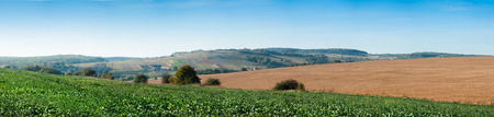Big panoramic appearance lines of colored fields