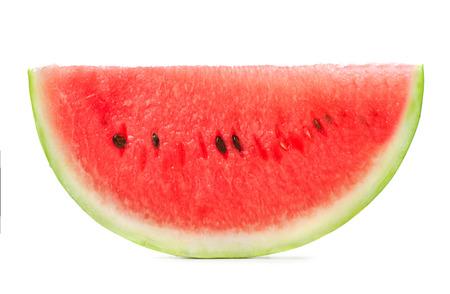 watermelon: lớn lát duy nhất của dưa hấu bị cô lập trên nền trắng