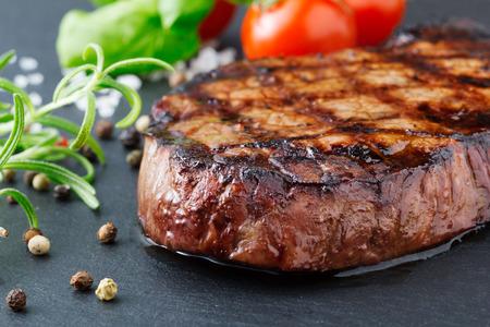 grilled meat: steak