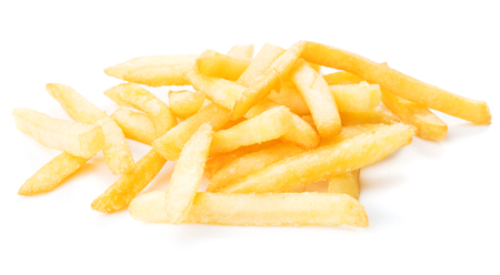 heap of french fries isolated on white background 스톡 콘텐츠 - 108354709