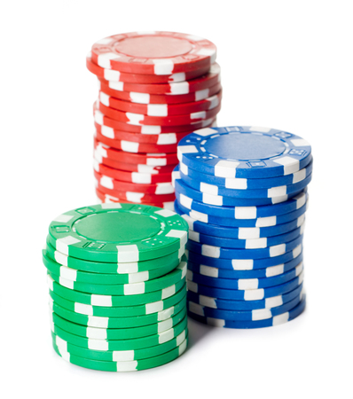 stack of casino ships isolated on white background 스톡 콘텐츠