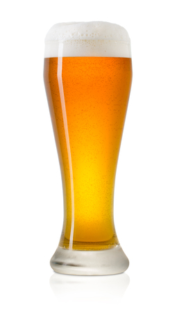 glass of beer on a white background 스톡 콘텐츠 - 108354744