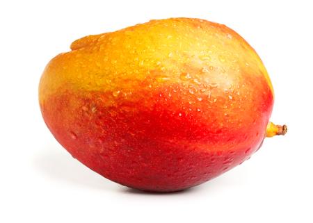 ripe solid mango isolated on white background