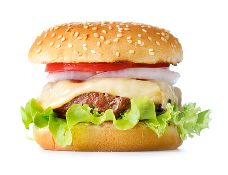 fresh cheeseburger isolated on the white background 스톡 콘텐츠 - 108354771