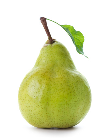green pear isolated on the white background