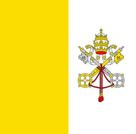 Flag of the Vatican Stockfoto