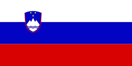 Flag of Slovenia 스톡 콘텐츠