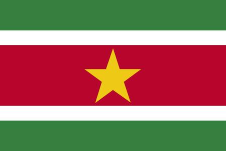 Flag of Suriname Stok Fotoğraf
