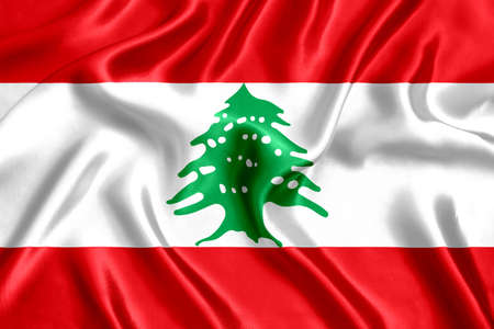 Flag of Lebanon Stok Fotoğraf