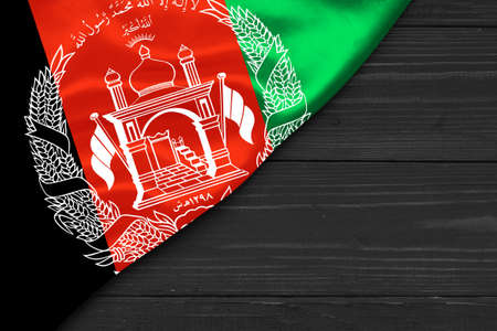 Flag of Afghanistan place for text cope space Stok Fotoğraf