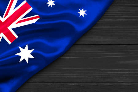 Flag of Australia place for text cope space