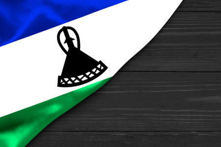 Flag of Lesotho place for text cope space