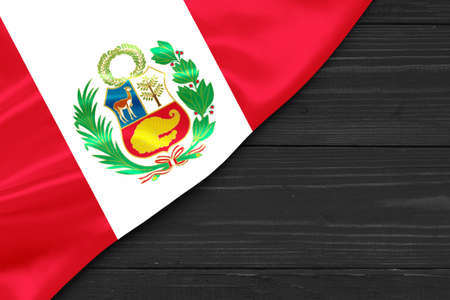 Flag of Peru place for text cope space