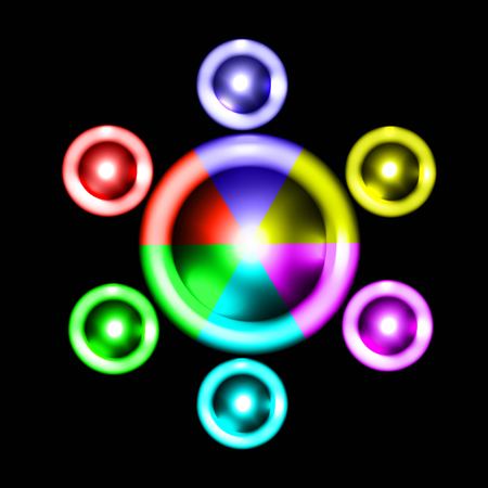 circles: Colored circles. Colored abstract background for design. Illustration