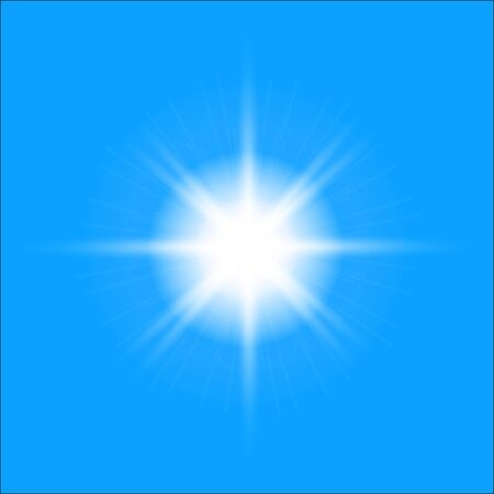 Abstract sun on blue sky - stock vector Stock Illustratie
