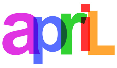April colorful month of the year - stock vector
