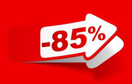 Discount 85 percent - vector