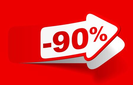 Discount 90 percent - vector Stock Illustratie
